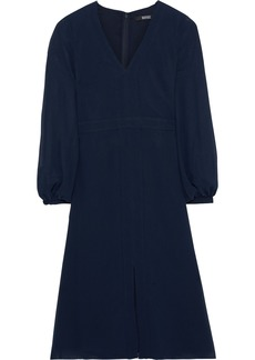 Badgley Mischka Woman Crepe De Chine Dress Navy