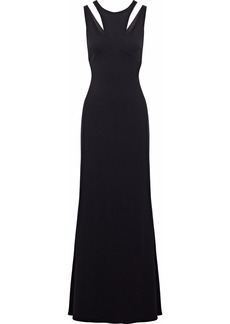 Badgley Mischka Woman Cutout Cady Gown Black