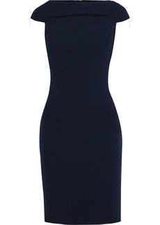 Badgley Mischka Woman Cutout Stretch-cady Dress Navy