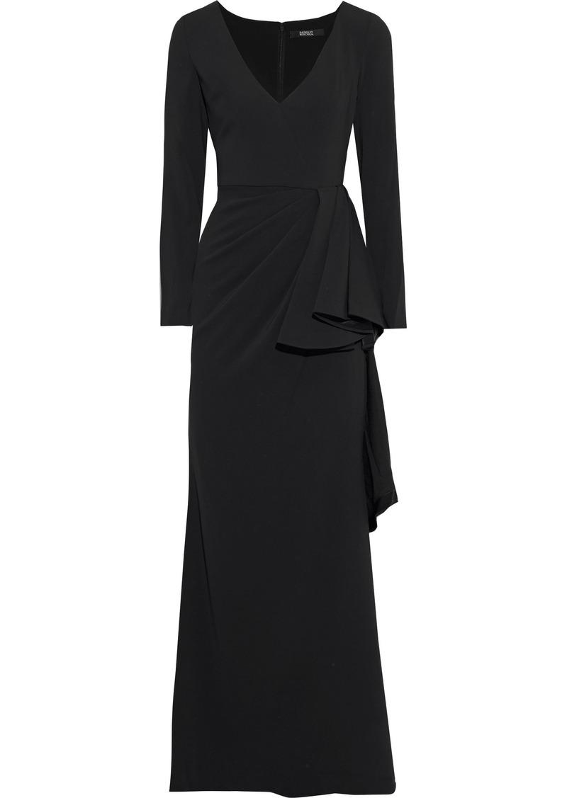 Badgley Mischka Woman Draped Crepe-jersey Gown Black