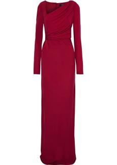 Badgley Mischka Woman Draped Jersey Gown Crimson