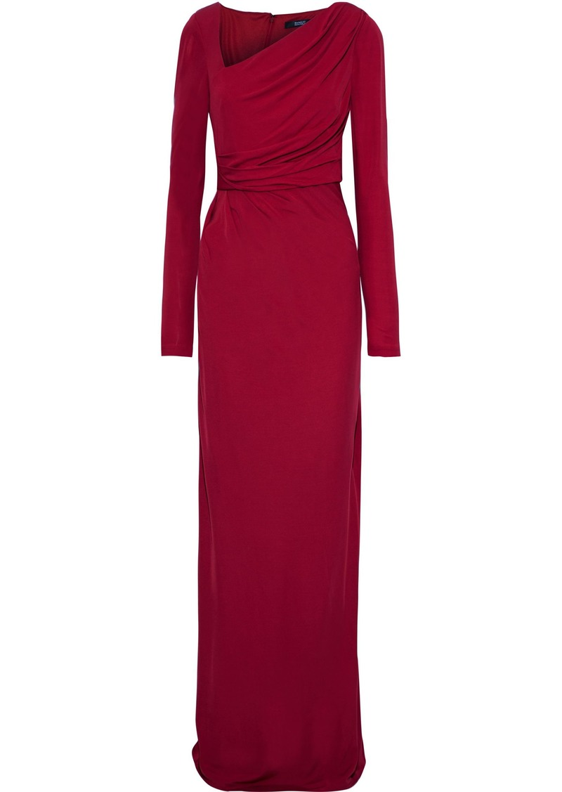 Badgley Mischka Woman Draped Jersey Gown Crimson
