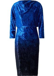 Badgley Mischka Woman Draped Velvet Dress Bright Blue