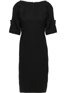 Badgley Mischka Woman Button-detailed Denim Dress Black