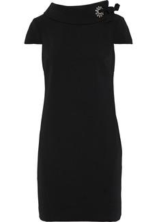 Badgley Mischka Woman Embellished Ponte Mini Dress Black
