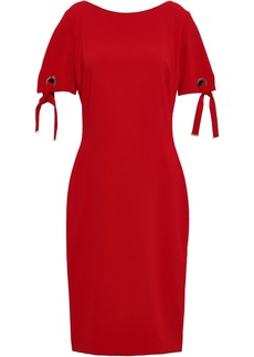 Badgley Mischka Woman Embellished Stretch-crepe Dress Crimson
