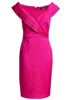 Badgley Mischka Woman Faille Dress Magenta