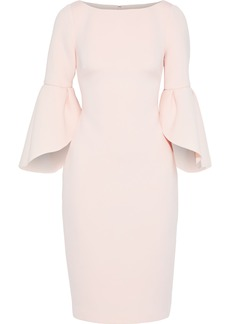 Badgley Mischka Woman Fluted Scuba Dress Baby Pink
