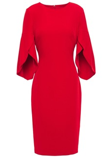 Badgley Mischka Woman Fluted Stretch-crepe Dress Red