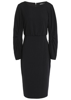 Badgley Mischka Woman Gathered Stretch-crepe Dress Black
