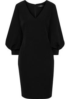 Badgley Mischka Woman Gathered Stretch-crepe Dress Black