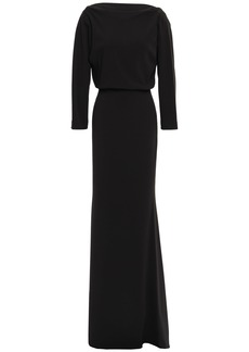 Badgley Mischka Woman Gathered Stretch-crepe Gown Black