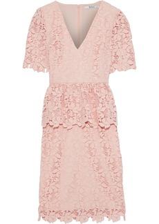 Badgley Mischka Woman Guipure Lace Peplum Dress Blush