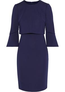 Badgley Mischka Woman Layered Neoprene Dress Dark Purple