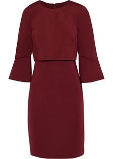 Badgley Mischka Woman Layered Scuba Dress Burgundy