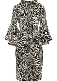 Badgley Mischka Woman Leopard-print Crepe Dress Animal Print