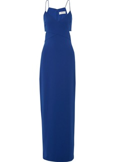 Badgley Mischka Woman Odessa Cutout Crepe Gown Royal Blue