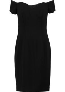 Badgley Mischka Woman Off-the-shoulder Cady Mini Dress Black
