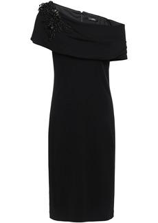 Badgley Mischka Woman Off-the-shoulder Embellished Stretch-jersey Dress Black