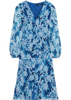 Badgley Mischka Woman Printed Chiffon Dress Blue