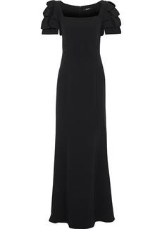Badgley Mischka Woman Ruffled Cady Gown Black