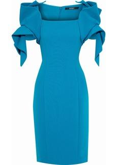 Badgley Mischka Woman Ruffled Cady Dress Azure