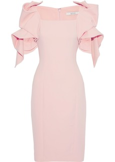 Badgley Mischka Woman Ruffled Cady Dress Pastel Pink