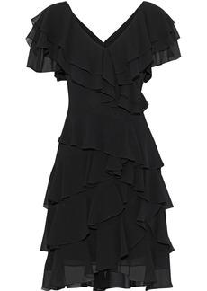 Badgley Mischka Woman Ruffled Georgette Dress Black