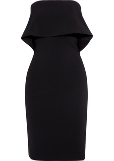 Badgley Mischka Woman Strapless Layered Cady Dress Black