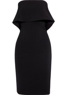 Badgley Mischka Woman Strapless Layered Stretch-cady Dress Black