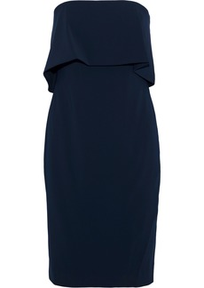 Badgley Mischka Woman Strapless Layered Cady Dress Navy