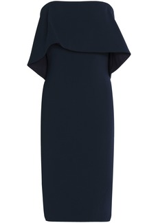 Badgley Mischka Woman Strapless Layered Crepe Dress Midnight Blue