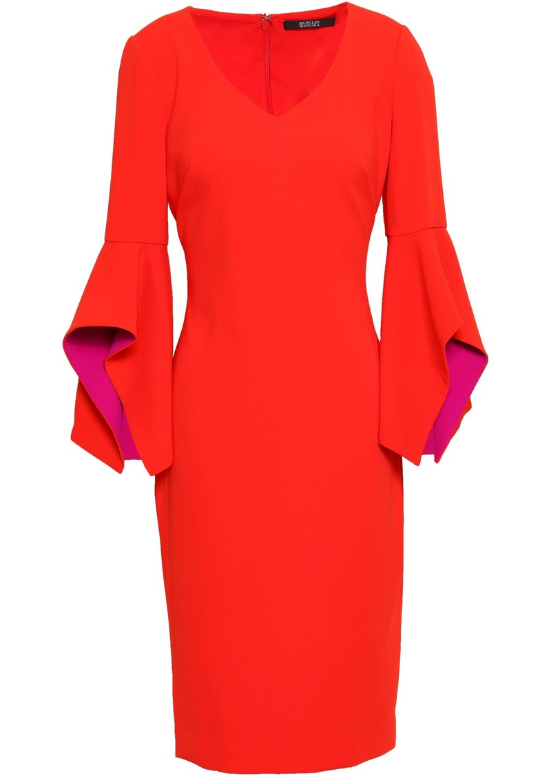 Badgley Mischka Woman Stretch-crepe Dress Red