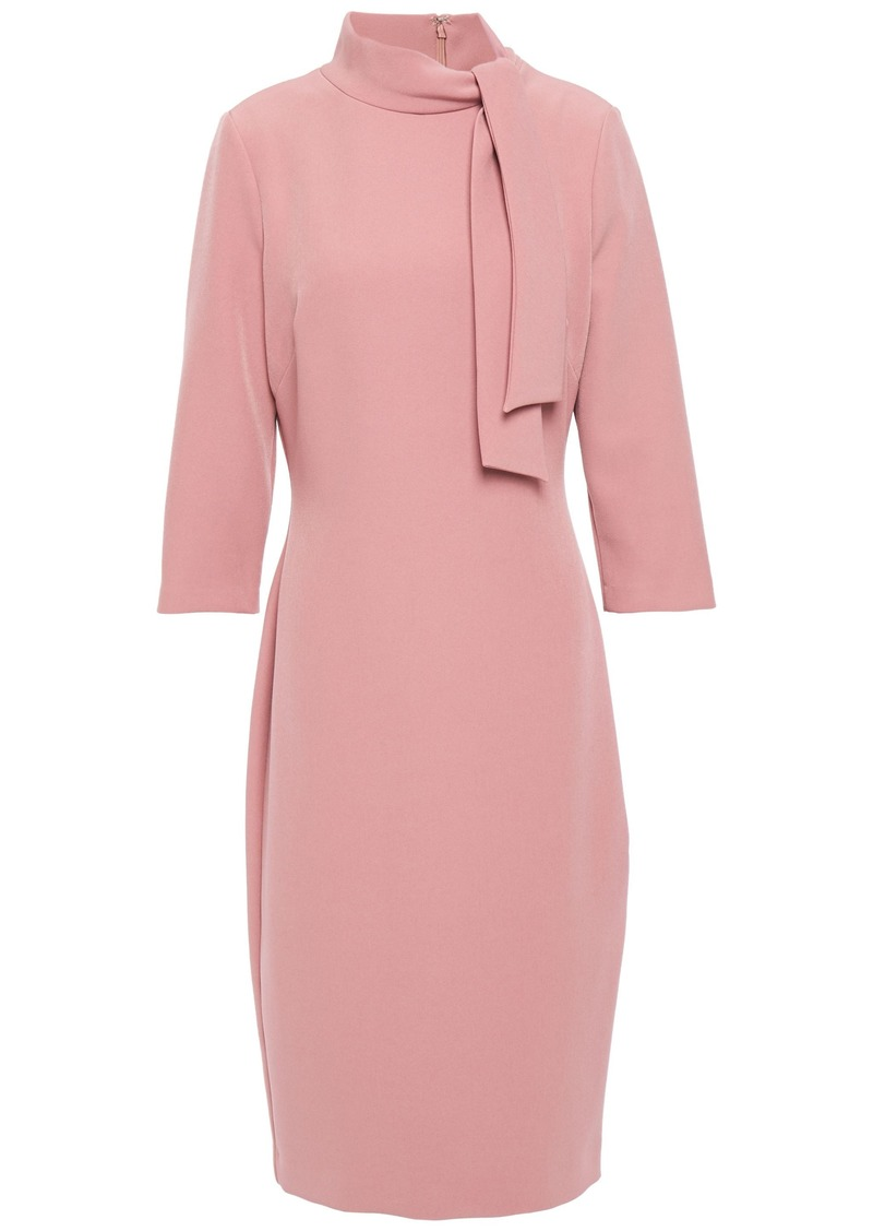 Badgley Mischka Woman Tie-neck Crepe Dress Antique Rose