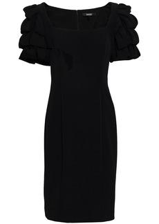 Badgley Mischka Woman Tiered Cady Dress Black