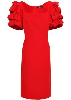 Badgley Mischka Woman Tiered Cady Dress Red