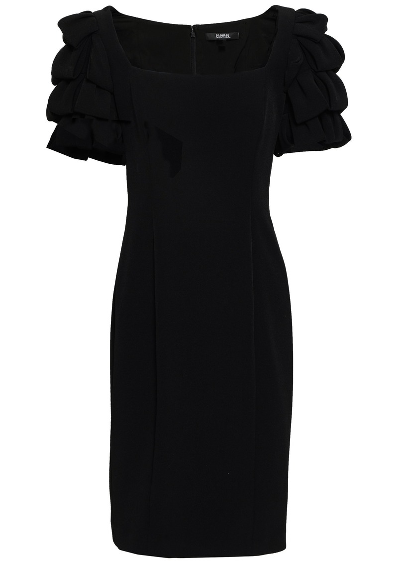 Badgley Mischka Woman Tiered Stretch-crepe Dress Black