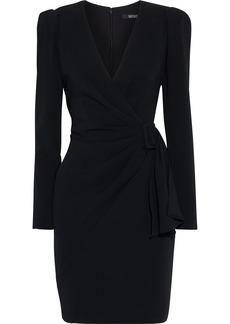 Badgley Mischka Woman Wrap-effect Draped Cady Dress Black