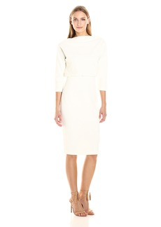 Badgley Mischka Women's 3/4 Sleeve Blouson Dress  XL