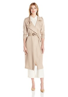 Badgley Mischka Women's Angelina Tencel Trench Coat  L
