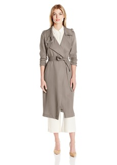 Badgley Mischka Women's Angelina Tencel Trench Coat  S
