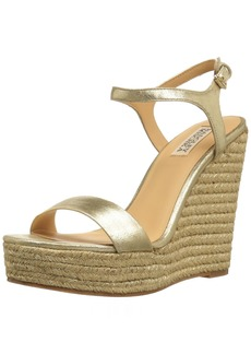 Badgley Mischka Women's Bermuda Espadrille Wedge Sandal  8 M US
