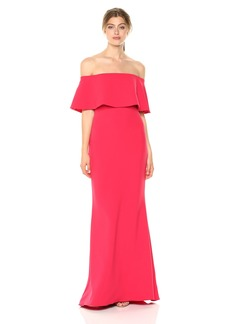 Badgley Mischka Women's Butter Crepe Gown fire