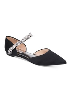 Badgley Mischka Women's Erin Crystal-Embellished d'Orsay Flats