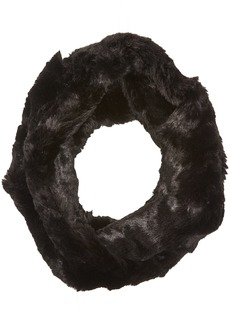 BADGLEY MISCHKA Women's Faux Chinchilla Double Face Twist Neck Warmer Scarf