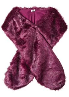 BADGLEY MISCHKA Women's Faux Mink Stole Shawl with Solid Lining