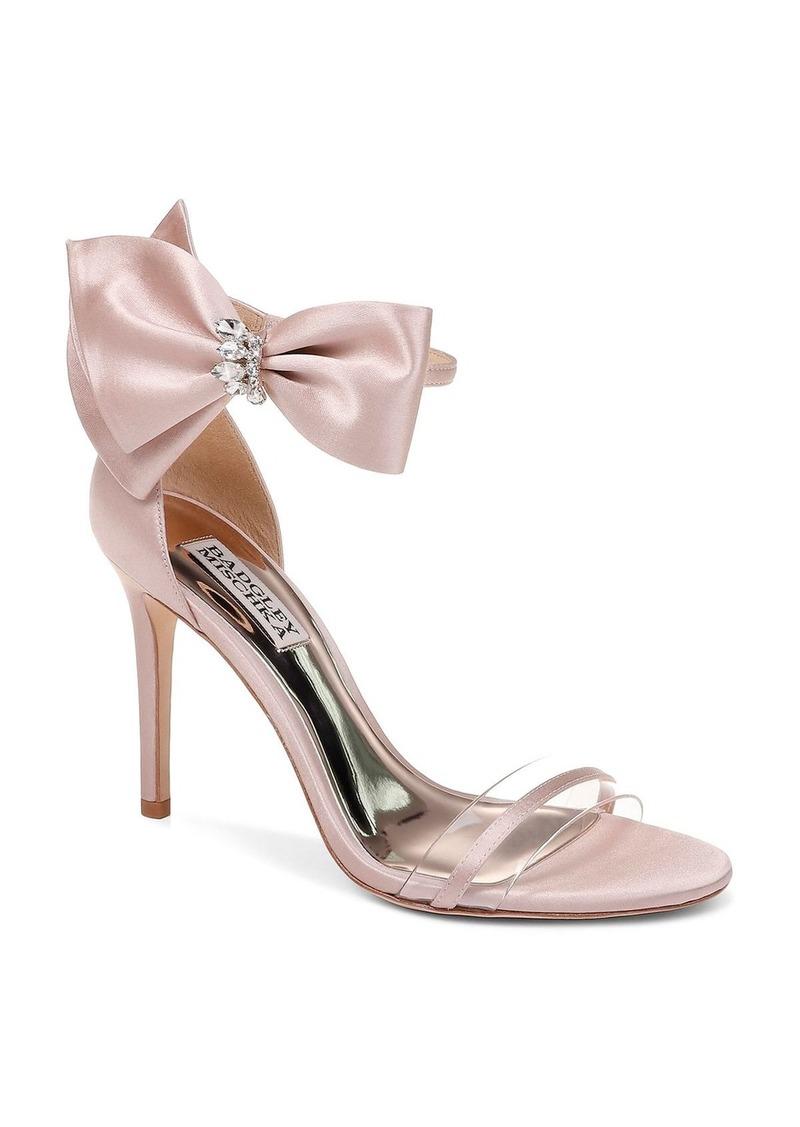 Badgley Mischka Women's Fran Embellished Satin Bow High-Heel Sandals