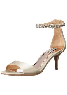 Badgley Mischka Women's Geranium Heeled Sandal   Medium US