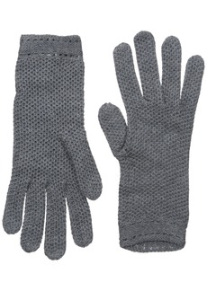 BADGLEY MISCHKA Women's Honeycomb Knit Glove Grey