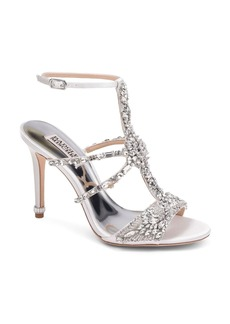 Badgley Mischka Women's Hughes Embellished Satin T-Strap High-Heel Sandals